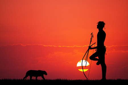 masai: Bushman Stock Photo