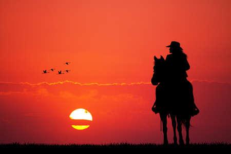cowgirls: chica a caballo