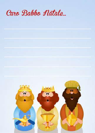 myrrh: letter of Santa Claus Stock Photo