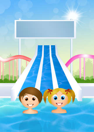 water park: children in water park