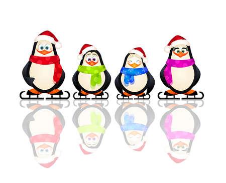 life event: penguins on ice skates