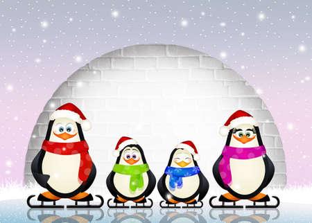 ice skates: penguins on ice skates