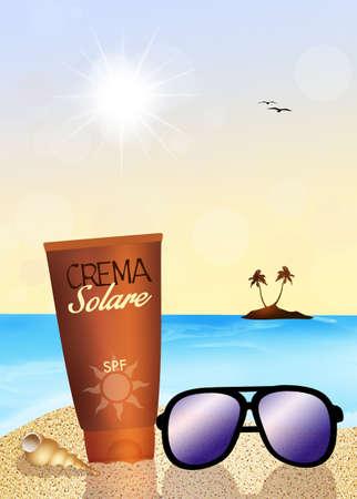 bodies of water: sun cream
