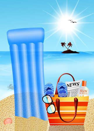 beach bag: beach bag