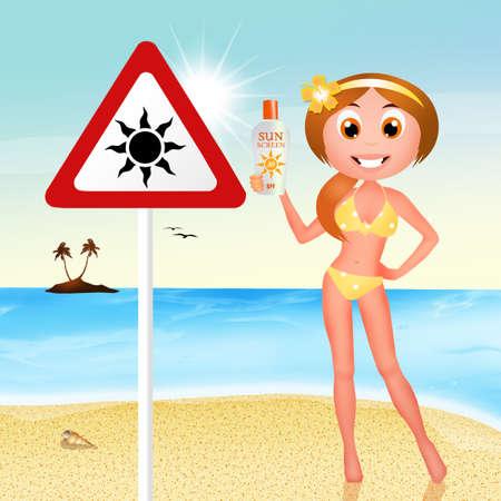 sunburn: danger sunburn