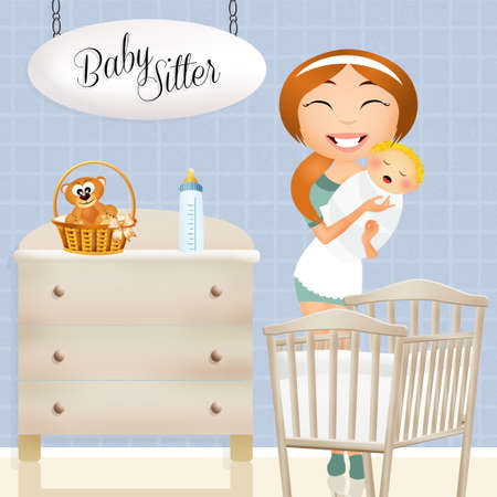 345 Babysitter Birth Stock Illustrations, Cliparts And Royalty ...