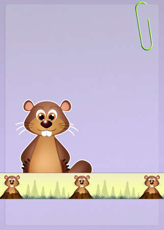 animal den: groundhog Stock Photo