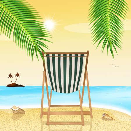 deck chair: deck chair on the beach