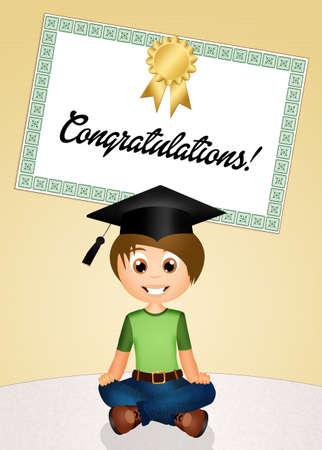 commitments: congratulation for graduation Stock Photo