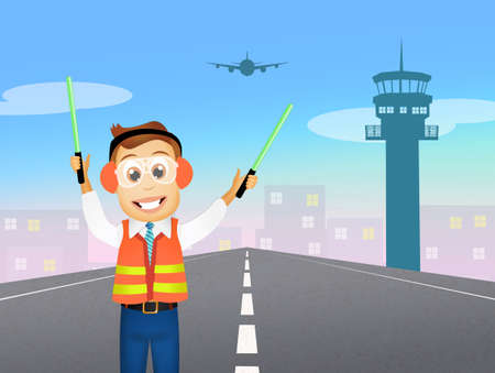 traffic controller: air traffic controller Stock Photo