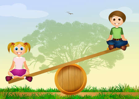 Les enfants jouent parc Banque d'images - 42090168