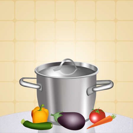broth: illustration of chicken broth