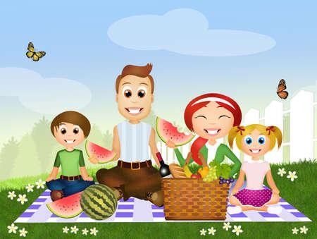 pic nic: pic nic family Stock Photo