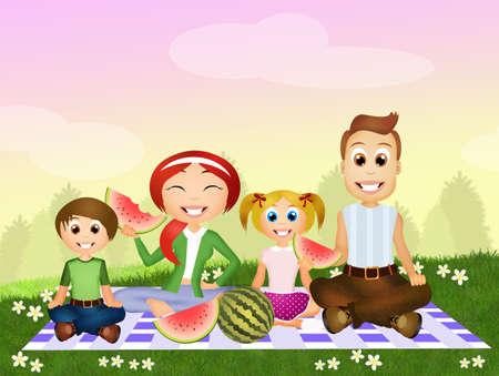 pic nic family Stock Photo