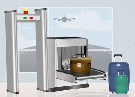 airport security: Airport security scanner