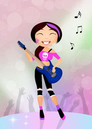 pop musician: rock star Stock Photo