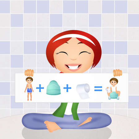 potty: learn to use the potty Stock Photo