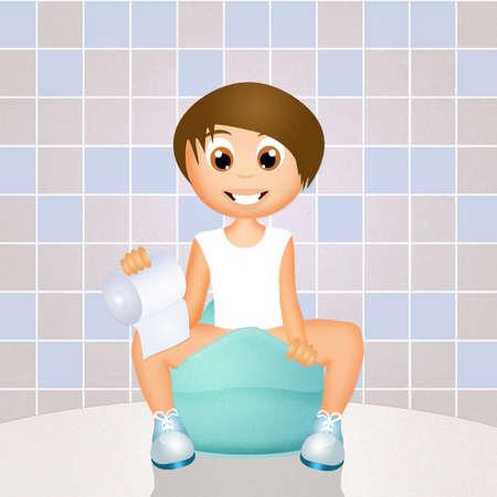 potty: child on the potty