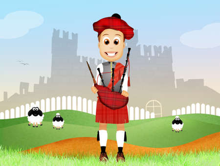 pipers: Pipers cartoon Stock Photo