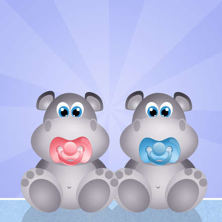 outdoor event: baby hippos