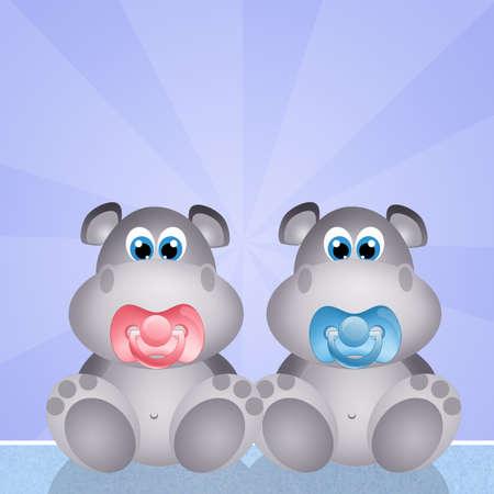 adoptive: baby hippos