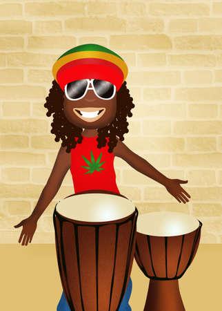 jamaican: Jamaican man Stock Photo