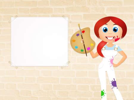 painter girl: girl painter