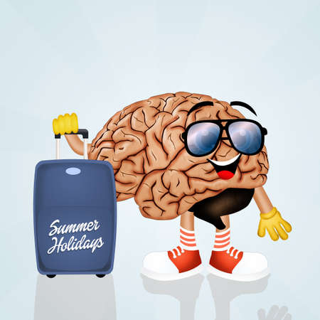 goes: the brain goes on vacation