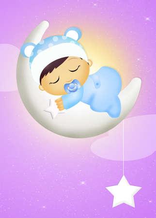 was born a child