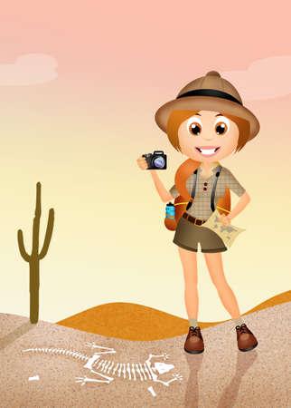 Archaeologist girl