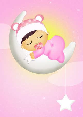 baby girl: baby girl who dreams