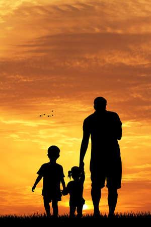 ni�os abandonados: padre e hijos