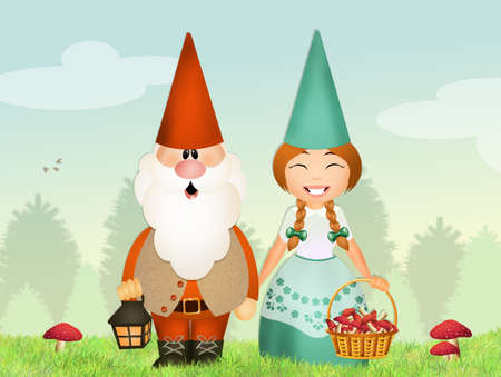 gnomes couple