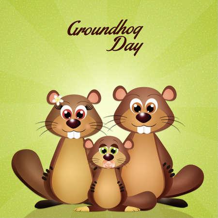 animal den: groundhog day