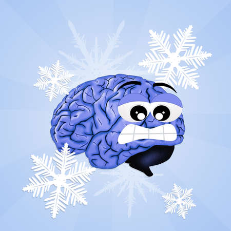brain freeze Stock Photo