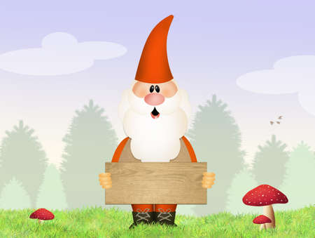gnome: gnome in the wood Stock Photo