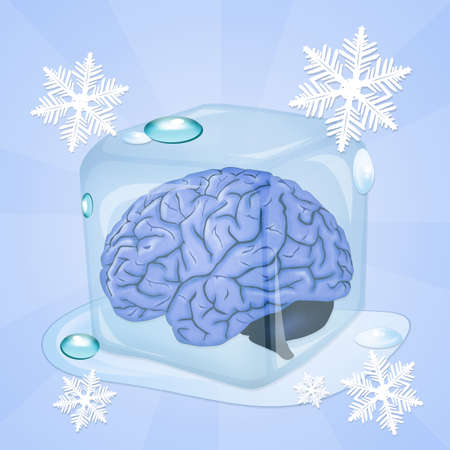 freeze: brain freeze Stock Photo