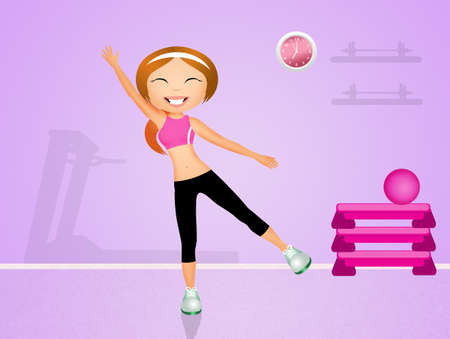 tapis: exercises in the gym Stock Photo
