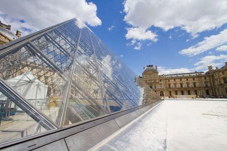 louvre: exterior view of the Louvre, Paris Editorial