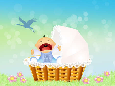 outdoor event: child cries