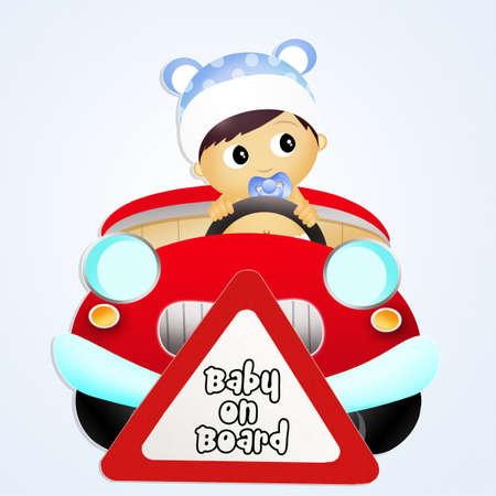 board: baby on board card