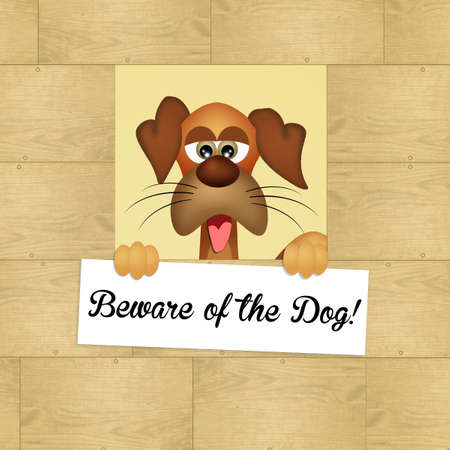 beware dog: beware of the dog Stock Photo