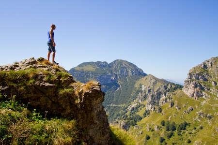 free climber: man on mountain