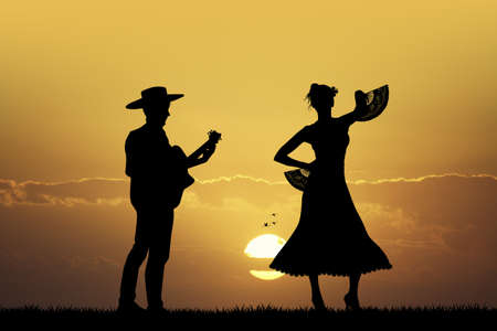 bailarina de flamenco: bailarina de flamenco guitarrista ANF