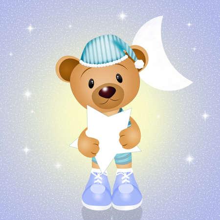 slumber: teddy with star