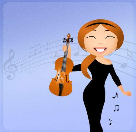 violinist: Violinist Stock Photo