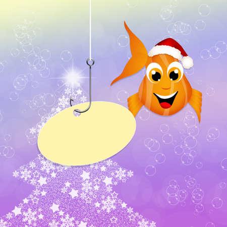 red fish: red fish at Christmas