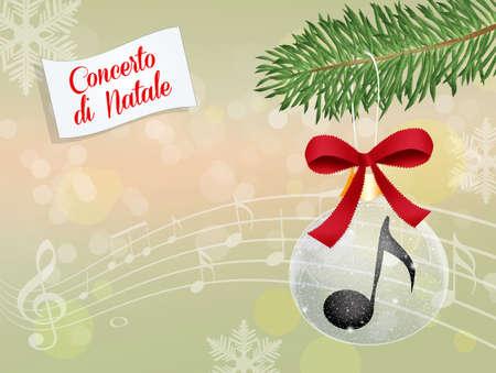 Annual Christmas concert Stock Photo