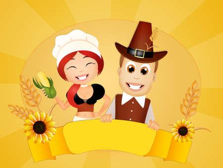 pilgrim costume: Thanksgiving couple