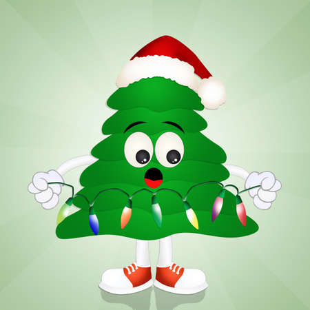 funny christmas: Funny Christmas tree Stock Photo